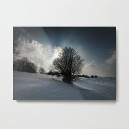 Snowy Hillside Metal Print