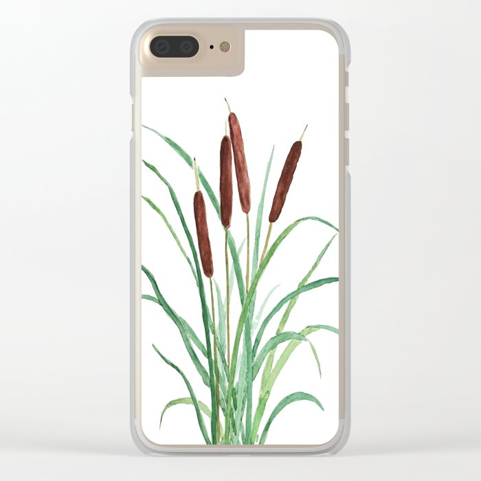 cattails plant Clear iPhone Case