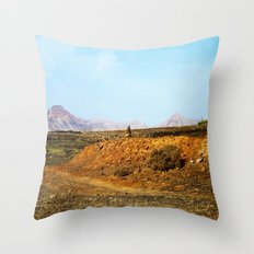 Stones and Mountains Throw Pillow