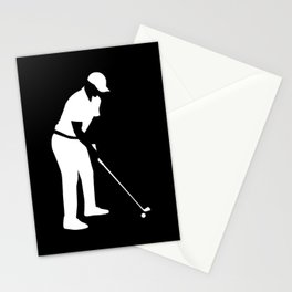 Golf player Stationery Cards