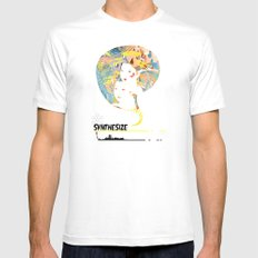 SYNTHESIZE White MEDIUM Mens Fitted Tee