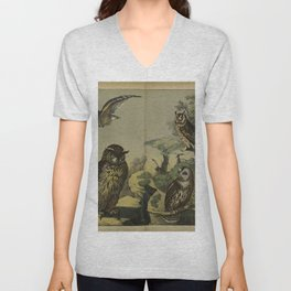 005 strix bubo Long eared Owl Tawny Owl Short eared Owl Little Owl10 Unisex V-Neck