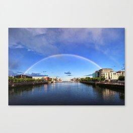 Double Rainbow over the Liffey Canvas Print
