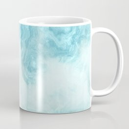 Blue marble abstract agate watercolor geode pattern Coffee Mug