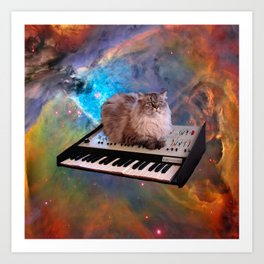 Cat on a Keyboard in Space                                                       Art Print