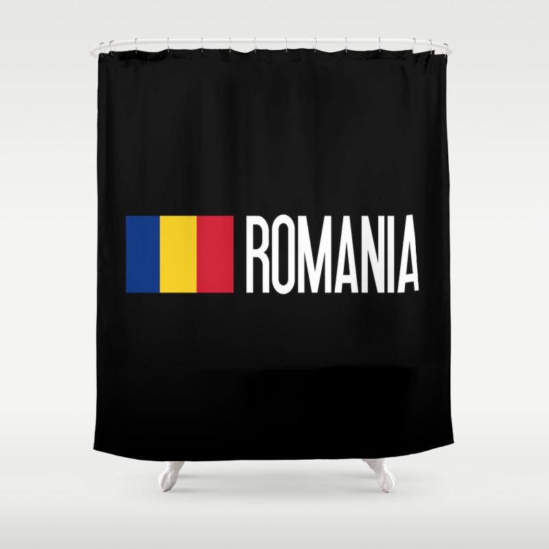 Romania: Romanian Flag & Romania Shower Curtain by Jsdavies CTN8975386