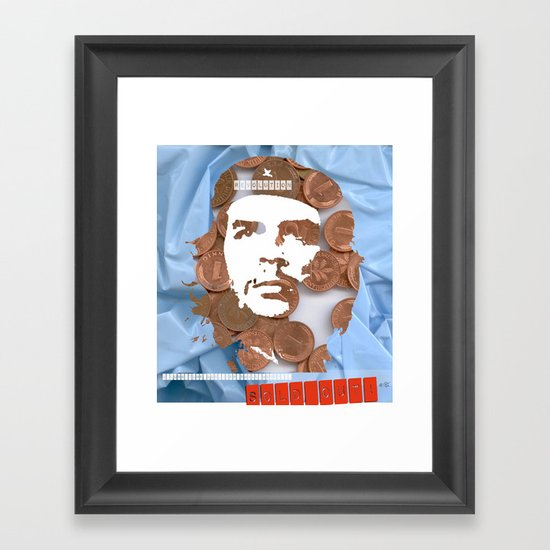 Che Guevara Collage Framed Art Print