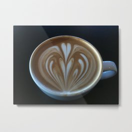 Latte Love Metal Print