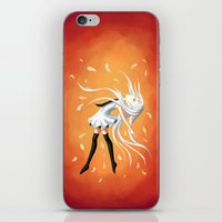 swan iPhone & iPod Skins featuring Swan by Freeminds