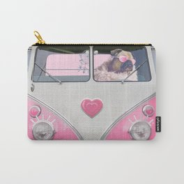 Pug Girly Adventure Carry-All Pouch