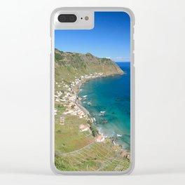 Santa Maria island Clear iPhone Case