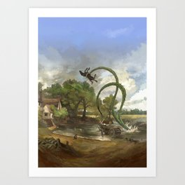 Cthulhu Britannica Art Print