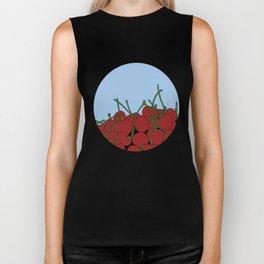 Cherries in a Bowl (Black Ring) Biker Tank