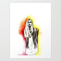 model Art Prints featuring Model by Jessica Tobin