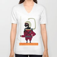 spaceman V-neck T-shirts featuring SPACEMAN by Eleonora