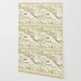 Vintage Map of Central America (1840) Wallpaper