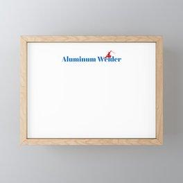 Aluminum Welder Ninja in Action Framed Mini Art Print