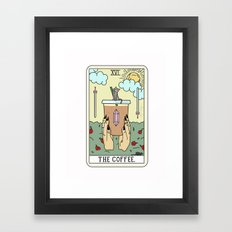 COFFEE READING Framed Art Print