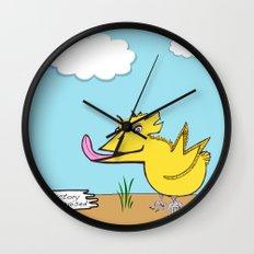 Fresh Factory Farm Raised Wall Clock