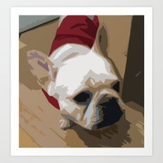 Sweet George a French Bulldog Art Print