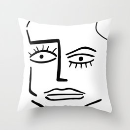 Faire Visage No 86 Throw Pillow