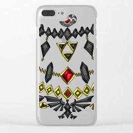 LOZ Design #6 - Black Gems of Hyrule Clear iPhone Case