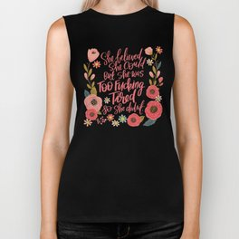 Pretty Swe*ry: She Believed She Could... Biker Tank