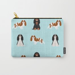 Cavalier King Charles Spaniel mixed coats dog breed must have cavalier spaniels gifts Carry-All Pouch