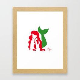 Ariel Silhouette Framed Art Print