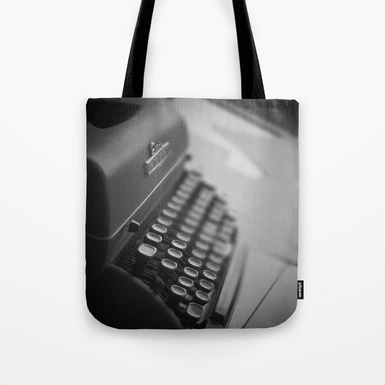 Black and White Typewriter  Tote Bag