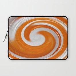 Lollipop Swirls - Orange Laptop Sleeve
