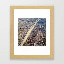 Freeway Macrame Framed Art Print