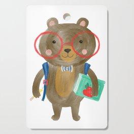Back To School Bear Cutting Board