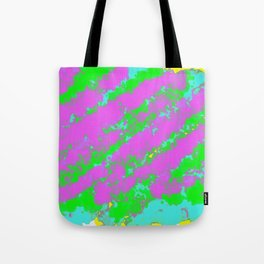 painting abstract background in purple blue green and yellow Tote Bag