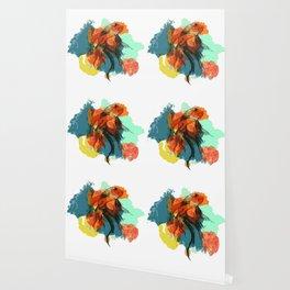 Splatter koi fish Wallpaper