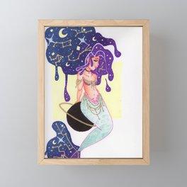 Galaxy Drip Mermaid Framed Mini Art Print