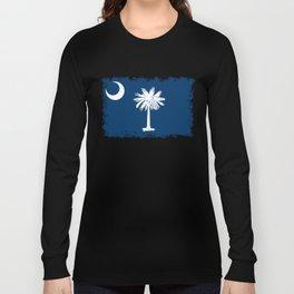 Flag of South Carolina - High Quality image Long Sleeve T-shirt