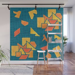 Hand painted geometrics Wall Mural