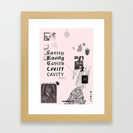 CAVITY ZINE VOL. II POSTER Framed Art Print