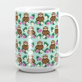 Sloth and Hibiscus Coffee Mug