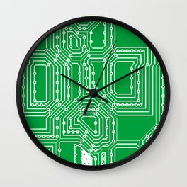 Computer board pattern Wall Clock