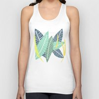 coconut wishes Tank Tops featuring Coconut Blossom by Melanie Hodge