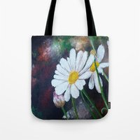 pushing daisies Tote Bags featuring Daisies  by ANoelleJay