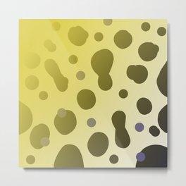 Wild design dots b-white Metal Print