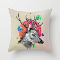 animals Throw Pillows featuring animals by mark ashkenazi