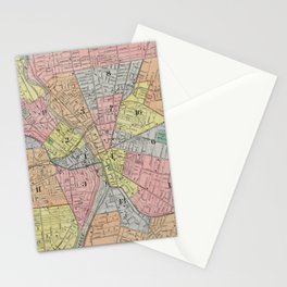 Vintage Map of Rochester NY (1901) Stationery Cards