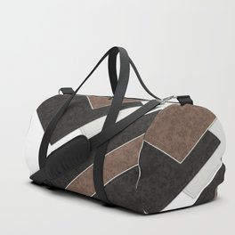 Black brown patchwork Duffle Bag