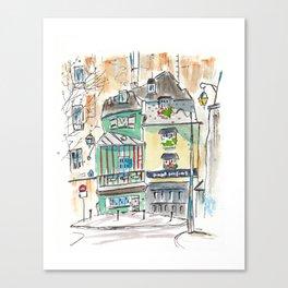 Odette (Paris, France) Canvas Print