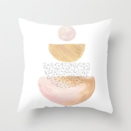 Abstract pastel balancing shapes Throw Pillow