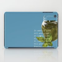 poem iPad Cases featuring A Poem about Pesto. by Lauren Shill